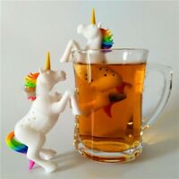 Lovely Colorful Unicorn Silicone Tea Infuser Strainer Tea Lovers Drink Gift
