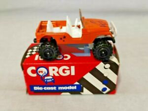 """CORGI 1985 - 1:64 SCALE DIECAST - 4 X 4 JEEP """"HORSE AND STARS DECALS"""" - 53447"""