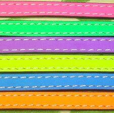 1 Metro de Cuero Fluor 10x2mm A107B A Escoger Leder Neon Leather Cuir Perles