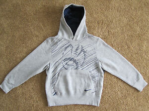 NWT Nike Youth Boys Sport Football Athletic Pullover Hoodie Gray S or M 481128