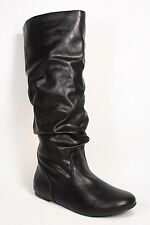 Women's Comfort Casual Flat Mid Calf Knee High Round Toe Boots Size 5.5 - 11