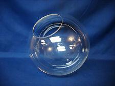 "12"" Acrylic Clear Plastic Round Globe Lamp Light Fixture 5 1/4"" hole opening new"