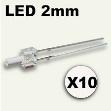 310# LED Blanche 2mm lot de 10 + résistance ---> 800 mcd