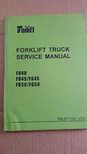TAILIFT FORKLIFT SERVICE MANUAL FD40-50