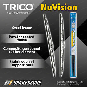 Front Trico Nuvision Wiper Blades for Bmw 2500 2500 3 Series E3 E21 5 Series E12