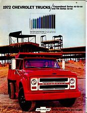 1972 Chevrolet Trucks Conventional Series Automobile Brochure EX 021917jhe