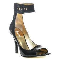 new $248 marciano guess abigayle black leather pumps HEELS SHOEs 9  sold out