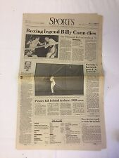 May 30, 1993 Pittsburgh, PA Post-Gazette newspaper section ~ BILLY CONN DIES
