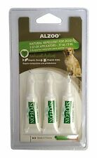 ALZOO FLEA & TICK SPOT ON DOG 3PK NATURAL ALTERNATIVE TO CHEMICAL FREE SHIP USA