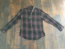 NEW Thomas Payne Men 2XL Dress Shirt Purple Black Gray Plaid 100% Rayon MSRP $95