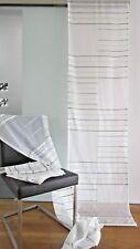SCHIEBEGARDINEN 5 Stück je 235 x 60 cm 👀 SET Vorhänge GARDINEN in weiß / grün