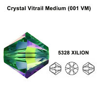 CRYSTAL VITRAIL MEDIUM (001 VM) Genuine Swarovski 5328 Bicone Beads *All Sizes