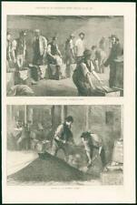 Nouvelle annonce 1874 antique print-Industrie tea warehouse remplissage coffres bouffant pique (1...