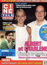 CINE REVUE (belge) 2008 N°11 albert charlene de monaco michael jackson