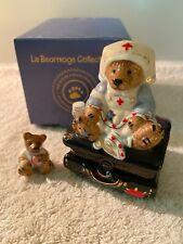 Boyd Bear Porcelain Lebearmoge-Clara The Nurse Qvc Excl