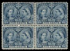 CANADA #54, 5¢ Jubilee, Block of 4, og, NH, gum skip, F/VF, Scott $720.00