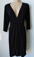 PORTMANS Black stretch 3/4 sleeve dress. Size L (14)