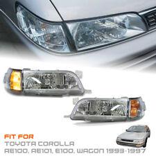 Toyota Corolla AE100 AE101 E100 93 94 95 96 97 Front Chrome Headlight Clear Lens
