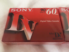 3x Sony 90 Mini Dv 60 Min Camcorder Cassette