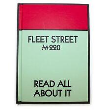 NUOVO Monopoly Fleet Street Hard Back Notebook retrò regalo di carta da lettere London