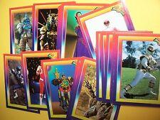 POWER RANGERS - Super Pack White set  Complete Trading Card set