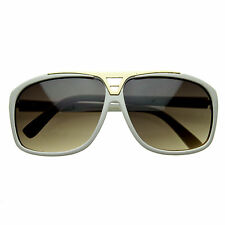 Evidence Sunglasses WHITE GOLD womens mens unisex hip hop pop celebrity star