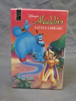 Brand New 1996 Disney's Aladdin Little Library (4 Mini Book Set) by Mouse Works