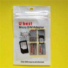 BLACK Micro Sim Adapter: Apple iPhone 4/4S + iPad 1/2/3/4 Card Converter/Holder