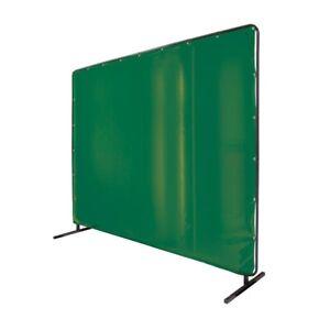 Revco 6' x 8' Welding Screen & Frame Saf-Vu 14 mil. Translucent Vinyl Green