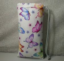"""New listing New 9"""" X 5"""" Padded Pipe Bag /Pouch /Case /Glass Bowl Bag/ Butterfly Butterflies"""