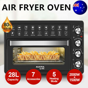28L Air Fryer Electric Convection Oven Oil Free Kitchen Healthy Cooker Black