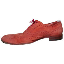Paul Smith Red Suede Miller Brogues. Rare Floral internal shell & insole UK7 US8
