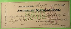 2 checks on Helena, Montana 1895, One a bank draft.
