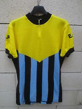Maillot cycliste E.C.P vintage Tricot NORET made in France années 70 shirt L XL