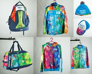SOCHI 2014 Olympic Uniform SET Backpack Travel Bag Jacket Hoodie Shirt Hat Cap