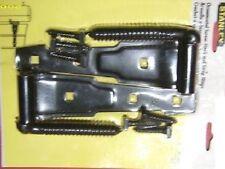 """1 pair STANLEY Ornamental Screw Hook/Strap Hinges 76-0860. Black, Lift off 8"""""""