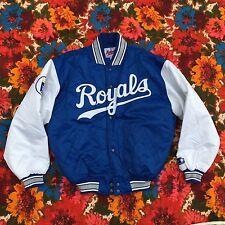 Vtg KC ROYALS Blue Starter Satin Jacket L 90s mlb Kansas throwback men SWAG
