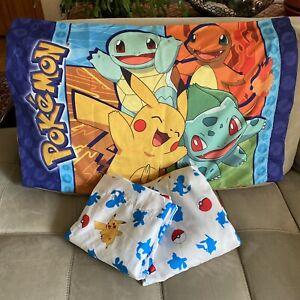 Pokémon 3 Piece Twin Sheet Set Fitted Flat & Standard Pillow Case