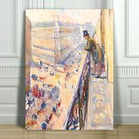 "EDVARD MUNCH - Lafayette Street - CANVAS ART PRINT POSTER - 18x12"""