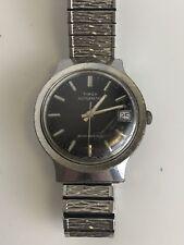 Vintage 70's Timex Automatic 34318 10879 Black Dial Men's Watch #104