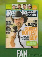 2010 TIM MCGRAW People Country CMA Music Festival Promo Plastic Lanyard Card