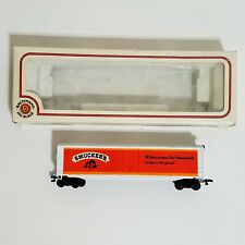Bachmann HO Scale Smuckers Car Strawberry White w/ Red w/ Box