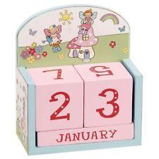 Wooden Pink Fairy Garden Girls Bedroom Perpetual Calendar Decoration