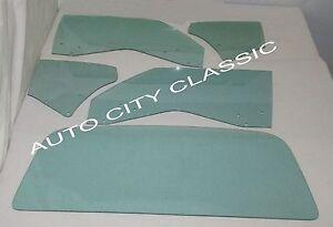 1969 Pontiac GTO 2 Door Hardtop Glass Door Quarter Rear Back Set Green Tint
