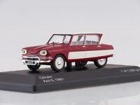 Scale model 1/43 Citroen AMI 6, dark red/white, 1961