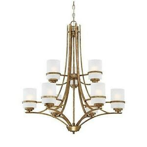 Millennium Lighting 3289VG 9 light chandelier vintage gold