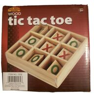 1 NEW WOODEN TIC TAC TOE GAME  WOOD TRAVEL GAME KIDS CLASSIC TOY TIC-TAC-TOE