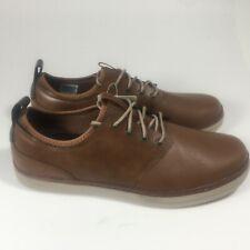 Skechers Mens Heston Rogic Walking Work Sneakers Smart Leather Shoes Tan US 10