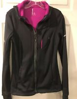 Mondetta Womens Jacket SzM ?  Charcoal Gray Activewear Hoodie Thumb Holes