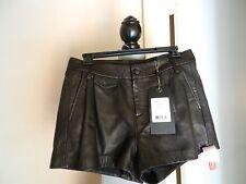 "Rag and Bone Black Leather High-Waisted ""Tennis"" Shorts SZ 4"
